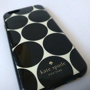 Kate Spade IPhone 7 Case B&W Gold Polka Dot